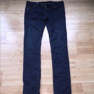 Hurley 26 dark wash skinny jeans